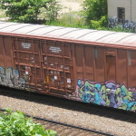Graffiti on a train.